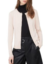 Mango - Long-sleeve Scalloped Cardigan - Lyst