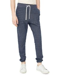Mango - Textured Jogger Trousers - Lyst