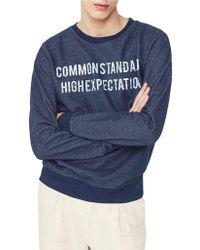 Mango - Printed Sweatshirt - Lyst