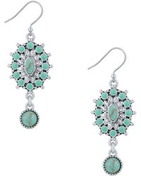 Lucky Brand - New West Turquoise Earrings - Lyst