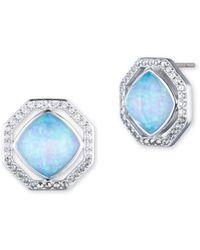 Judith Jack - Marcasite, Opal & Sterling Silver Stud Earrings - Lyst