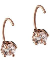 BCBGeneration - Orbital Clear Crystal Threader Earrings - Lyst
