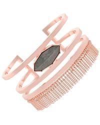 Jessica Simpson - Chain Fringe Cuff Bracelet - Lyst