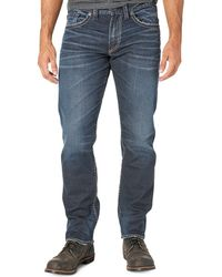 Silver Jeans Co. - Tapered Leg Denim Trousers - Lyst