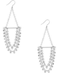 Lucky Brand - Lost And Found Titanium Chandelier Earrings - Lyst