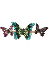 Betsey Johnson - Butterfly Duo Ring - Lyst