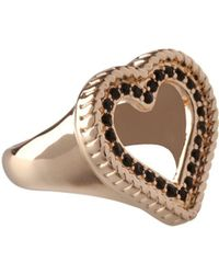 BCBGeneration - Keys To My Heart Crystal Heart Ring - Lyst
