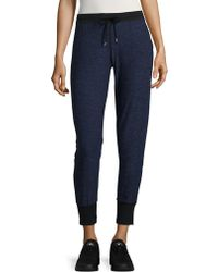 Ak Anne Klein - Heathered Jogger Trousers - Lyst