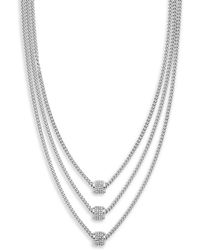 Jessica Simpson - Pave Crystal Multi-strands Necklace - Lyst