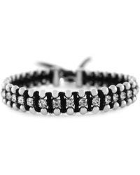 Jessica Simpson - Basics Crystal Thread Slider Bracelet - Lyst