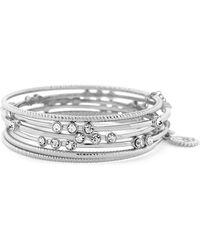 Jessica Simpson - Basics Crystal Multi-strand Bangle Bracelet - Lyst