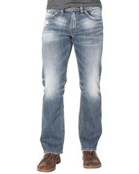 Silver Jeans Co. - Grayson Easy Straight Denim Jeans - Lyst