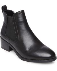 Steve Madden - Dicey Leather Booties - Lyst