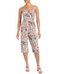 Betsey Johnson - Floral Print Cropped Jumpsuit - Lyst