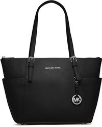 MICHAEL Michael Kors - Jet Set Textured Leather Tote - Lyst