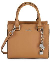 CALVIN KLEIN 205W39NYC - Saffino Leather Crossbody Satchel - Lyst