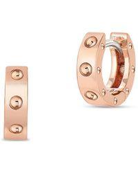 Roberto Coin - Pois Moi Symphony 18k Rose Gold Hoop Earrings - Lyst