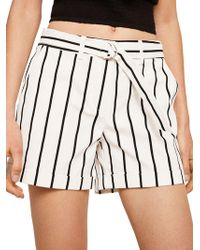 Mango - Belted Chino Shorts - Lyst