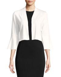Calvin Klein - Bell-sleeve Cropped Cardigan - Lyst