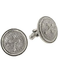 1928 - Round Cross Cufflinks - Lyst