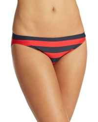 DKNY - Striped Hipster Bikini Bottom - Lyst