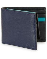 Calvin Klein - Textured Leather Bi-fold Wallet - Lyst