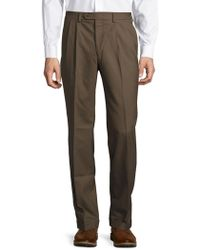 Lauren by Ralph Lauren - Mid-weight Pleated Wool Trouser Pants - Lyst