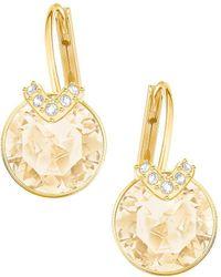 Swarovski - Bella Goldplated V Drop Earrings - Lyst