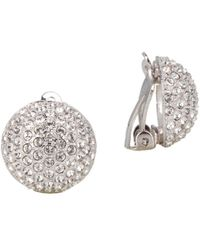 c51e28b57 Nina Alvee Swarovski Crystal Button Clip-on Earrings in Metallic - Lyst