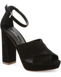 Kensie - Poliana Suede Dress Sandals - Lyst