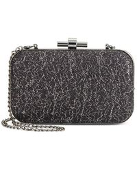 Natasha Couture - Metallic Lace Convertible Chain Clutch - Lyst