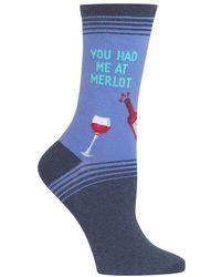 Hot Sox - You Had Me At Merlot Graphic Socks - Lyst