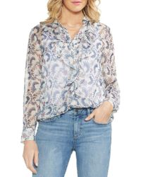 Vince Camuto - Petite Sapphire Bloom Botanical Blouse - Lyst