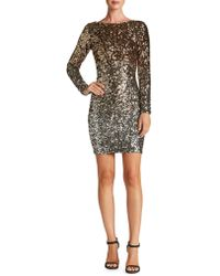 Dress the Population - Lola Long Sleeve Sequin Dress - Lyst