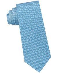 Michael Kors - Subtle Logo Striped Silk Tie - Lyst