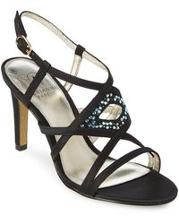 Adrianna Papell - Ace Embellished Leather Sandals - Lyst
