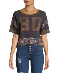 Free People - Nicky Number Graphic Cotton Tee - Lyst