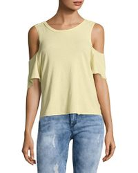 Free People - Taurus Cold Shoulder Tee - Lyst