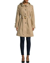 Donna Karan - Belted Trench Coat - Lyst