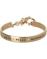 BCBGeneration - Basic Love Peace Happiness Crystal Bracelet - Lyst
