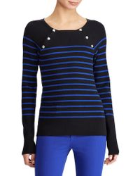 Lauren by Ralph Lauren - Petite Striped Crewneck Jumper - Lyst