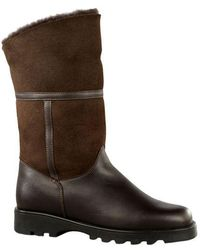 La Canadienne | Kosmo Shearling-lined Suede And Leather Boots | Lyst