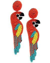 Kenneth Jay Lane - Oversized Parrot Earrings - Lyst