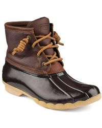 Sperry Top-Sider - Saltwater Leather Boots - Lyst