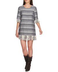 1.STATE - Geo Stripe Fringe Shift Dress - Lyst