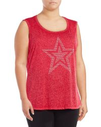 Marc New York - Plus Embellished Graphic Tank - Lyst