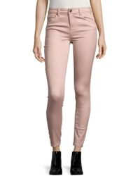 Lord & Taylor - Mid-rise Cropped Skinny Jeans - Lyst