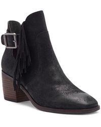 Lucky Brand - Makenna Suede Booties - Lyst