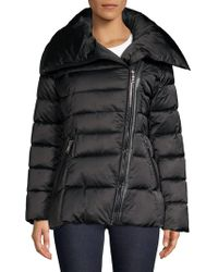 Tahari - Asymmetric Quilted Jacket - Lyst