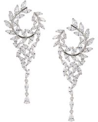 Nina - Catania Crystal Front-back Chandelier Earrings - Lyst